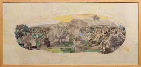 Anne Percoco, Field Studies, 2011, Collage, 42.25 X 20.25 inches